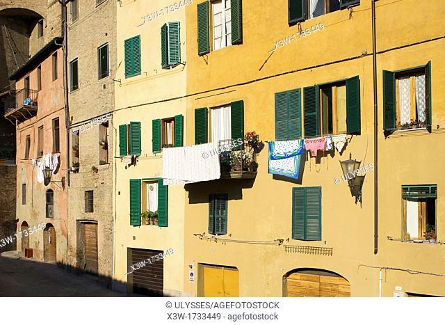 europe, italy, tuscany, siena, piazza del mercato