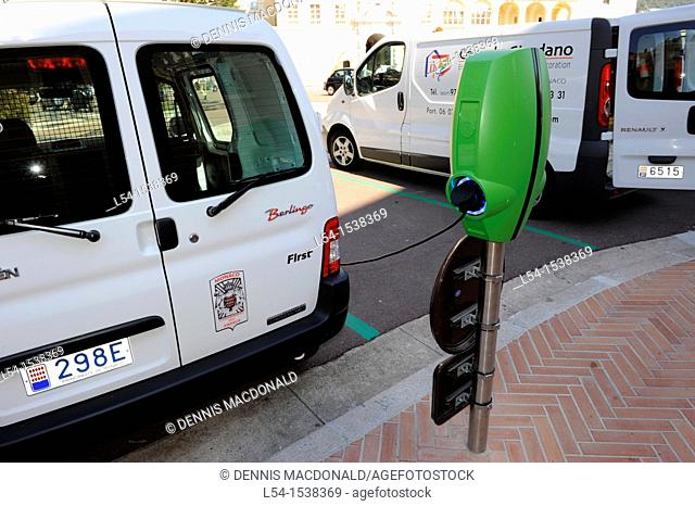 Electric Car Monte Carlo Monaco Principality French Riviera Mediterranean Cote d'Azur Alps