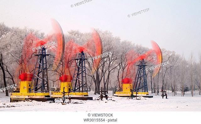 Oilfields of Daqing,Heilongjiang Province,China