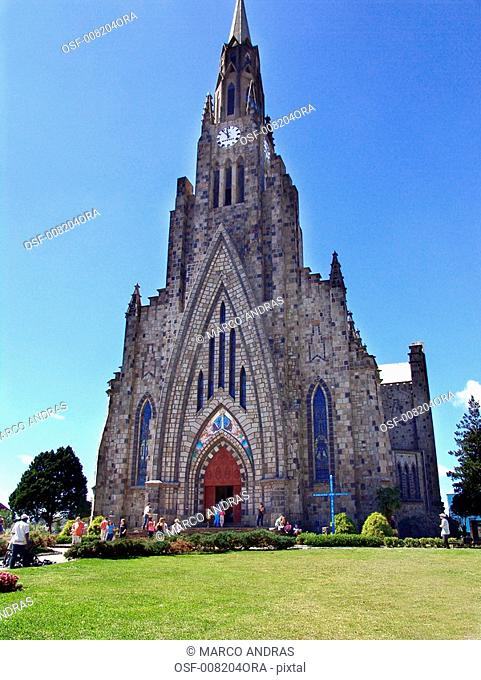 canela rs touristic church cathedral building facade architecture