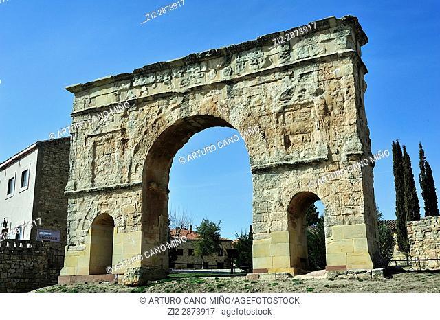 The Roman arch, 1st-3rd centuries AD. Medinaceli, Soria province, Spain