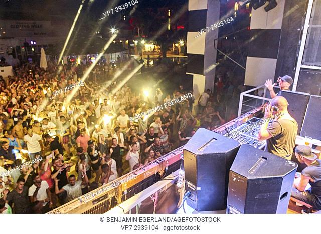 DJ Wildstylez playing at music festival Starbeach in Hersonissos, Crete, Greece, on 12. July 2017