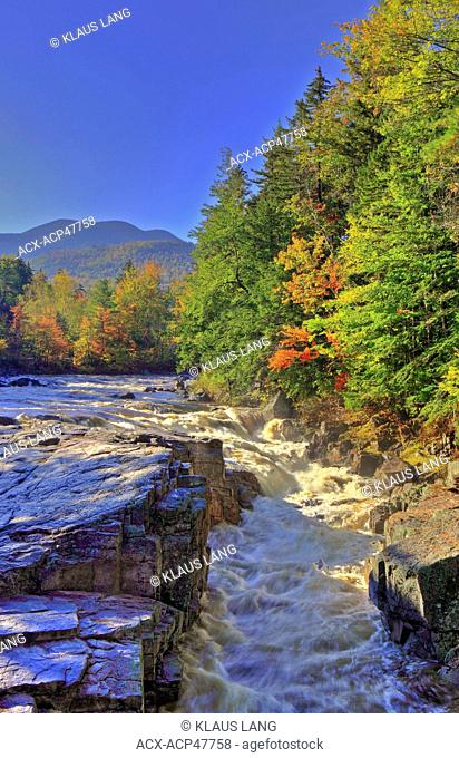 Rocky Gorge, Swift River, along Kancamagus Highway, White Mountains, New Hampshire, United States of America