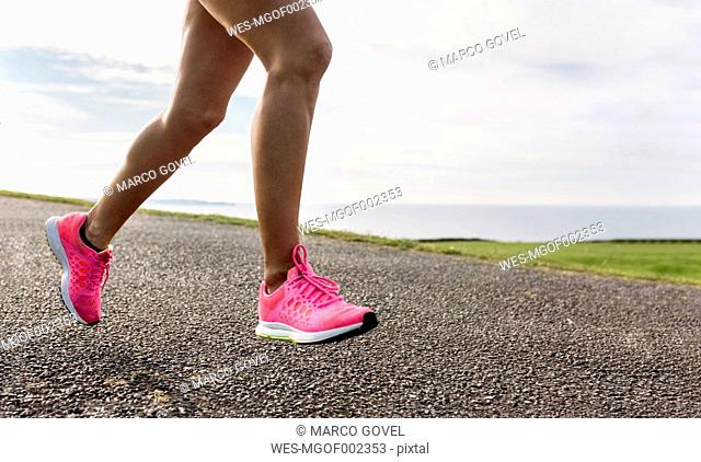 Female runner training outdoor