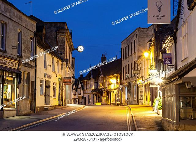 Dawn in Winchcombe, small town in the Cotswolds, Gloucestershire, England