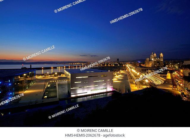 France, Bouches du Rhone, Marseille, Euromediterranean area, J4 Esplanade, La Villa Mediterranean, architect Stefano Boeri and Boulevard du Littoral