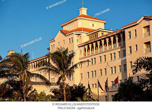 Facade of the British Colonial Hilton Nassau, Bahamas