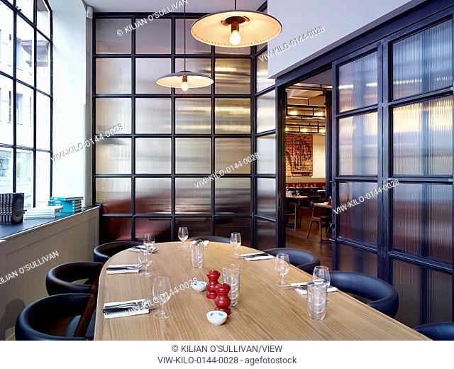 Private dining area. Hixter Bankside, London, United Kingdom. Architect: Stiff + Trevillion Architects, 2014