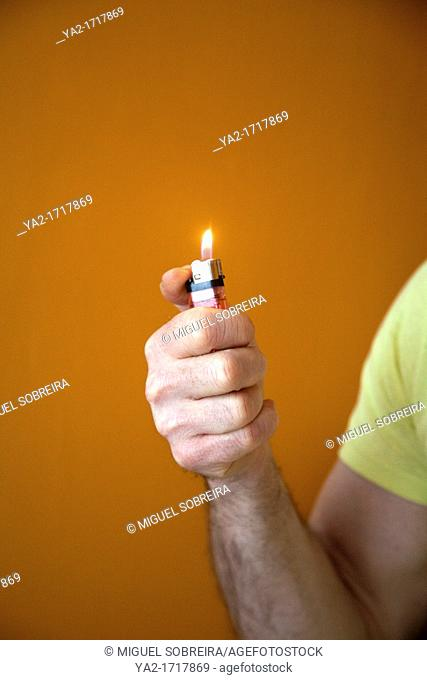 Man holding Lighter