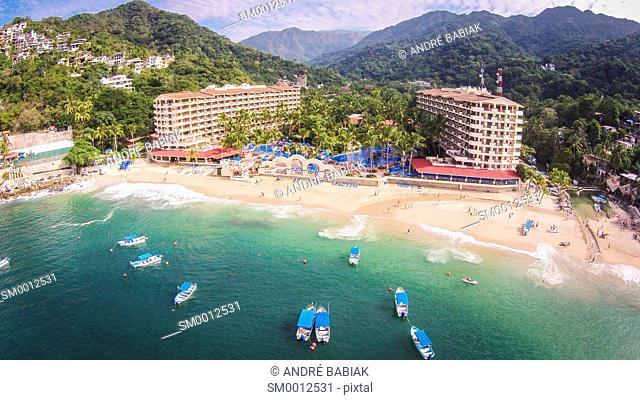 Aerial drone photo - Barcelo Resort, Mismaloya Beach south of Puerto Vallarta, Mexico