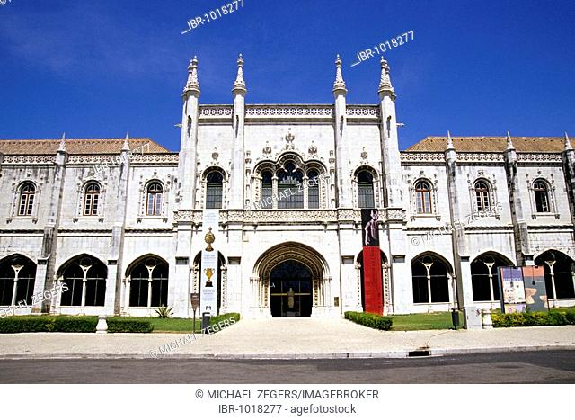 Mosteiro dos Jeronimos, Jeronimos Monastery, 16th century, main entrance and facade of the western wings in Manueline style