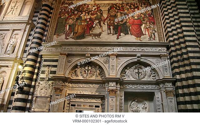 Siena Cathedral of the Most Holy Mary of Assumption Santa Maria Assunta Duomo di Siena, Piccolomini Library, Marble Entrance