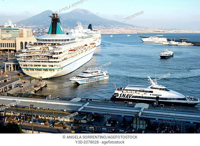 Naples Harbor with Cruise Ship