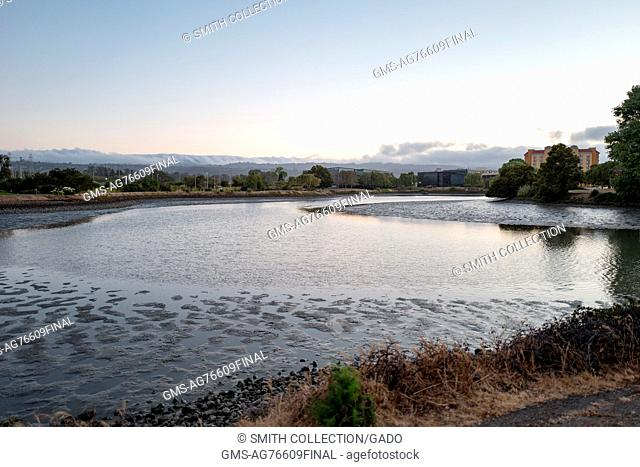 Anza Lagoon at dusk, Burlingame, California, July, 2016