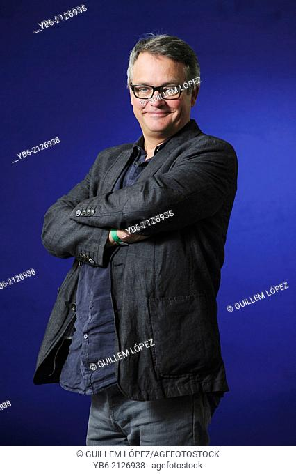 Charlie Higson, English actor, comedian, author and former singer, attending the Edinburgh International Book Festival, Friday 23rd August 2013