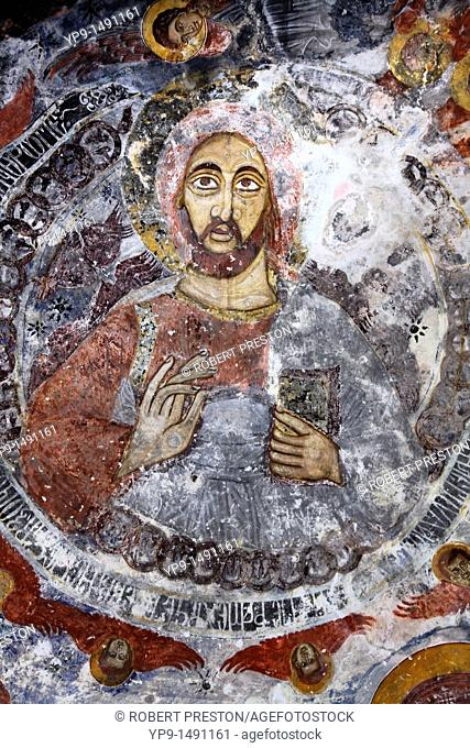Turkey - Trabzon Province - painted ceiling inside the Sumela monastery
