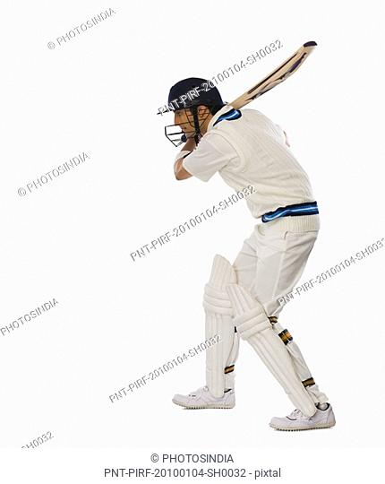 Cricket batsman playing a shot