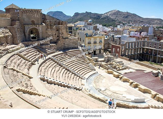 Roman Amphitheatre of Carthago Nova and Cathedral ruins of Cartagena in the region of Murcia