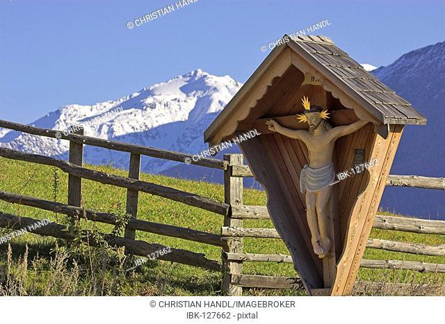 Mountains of the Ortler mountain range, Tanas, Vinschgau, South Tyrol, Italy