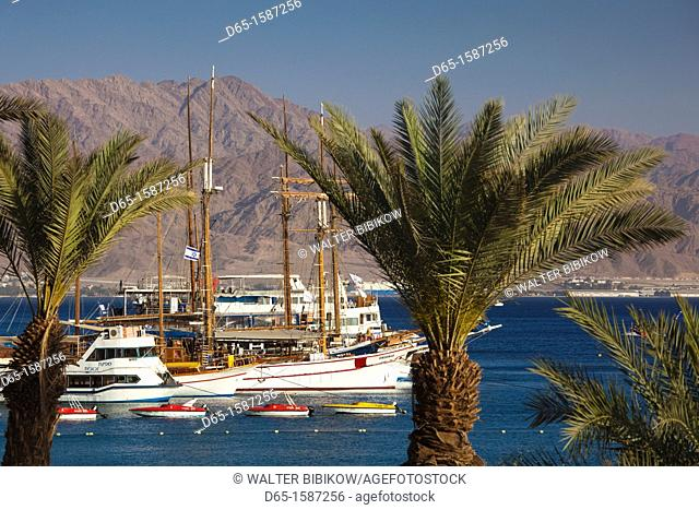 Israel, The Negev, Eilat, Red Sea, Eilat Marina