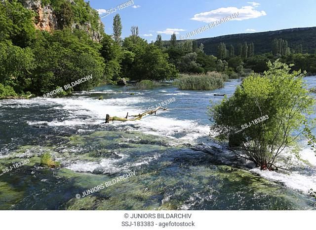 River with rapids at Krka National Park, Croatia