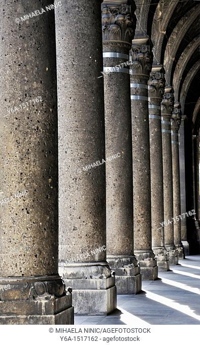Stone columns, Vienna, Austria, Europe