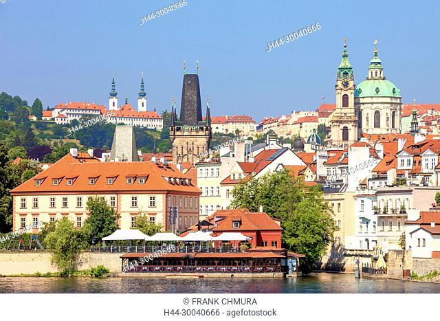 Prague - St. Nicolas Church, Strahov Monastery and Lesser Quarter Roofs