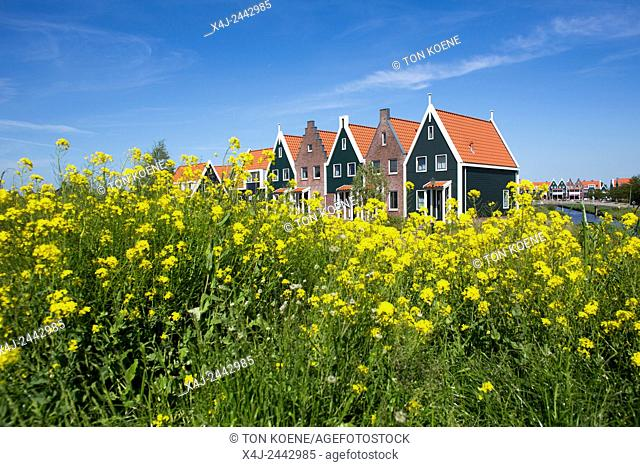 traditional Dutch houses in Volendam, the Netherlands