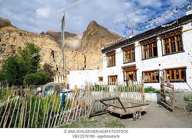 Homestay in Markha village. Trekking in Markha valley (Laddakh, India)