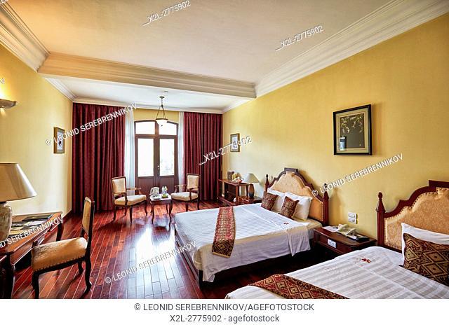 Deluxe double room in Saigon Morin Hotel. Hue, Vietnam