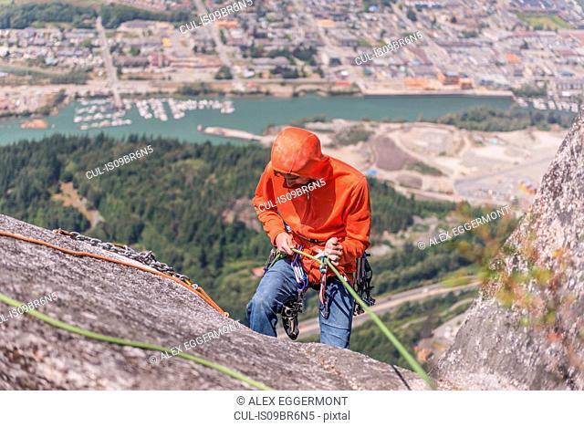 Rock climbing, Squamish, Canada