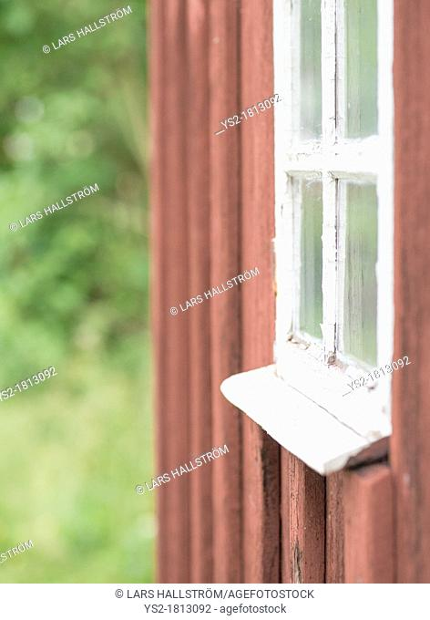 Architectural detail of home in swedish rural area
