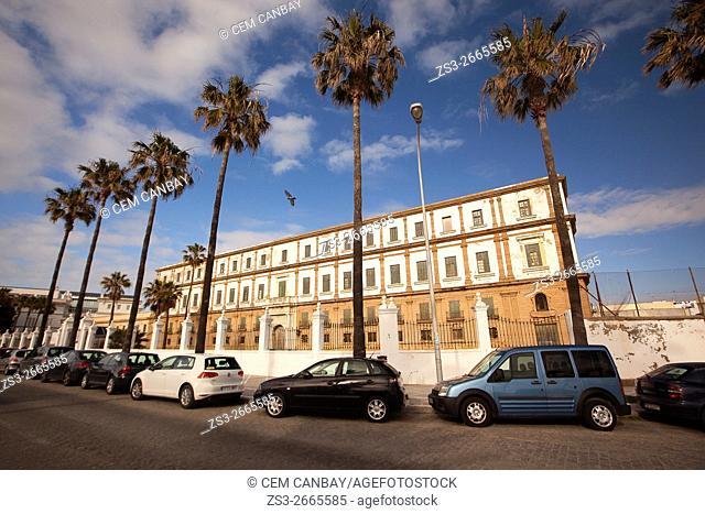 Former hospice-Antiguo hospicio by the Promenade in Campo del Sur Avenue, Cádiz City, Andalusia, Spain, Europe