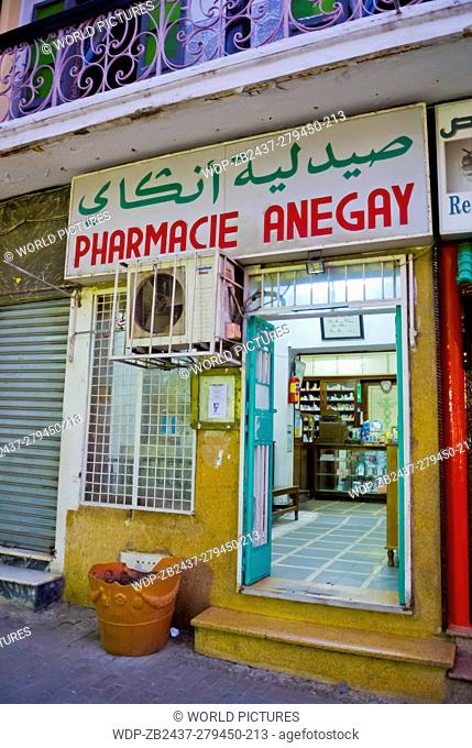 Pharmacy, chemist's, drugstore, Tangier, northern Morocco, northern Africa