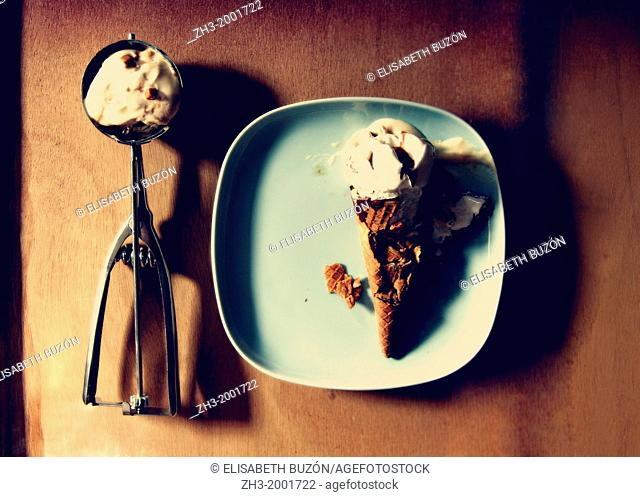 Picture about an ice cream and a spoon