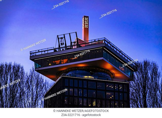 â. . Over the Edgeâ. . is Europeâ. . s highest swing, located on the sky deck of the A'DAM Lookout, Amsterdam North, The Netherlands, Europe