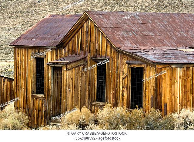 Exterior house detail, Bodie State Historic Park, Mono County, California