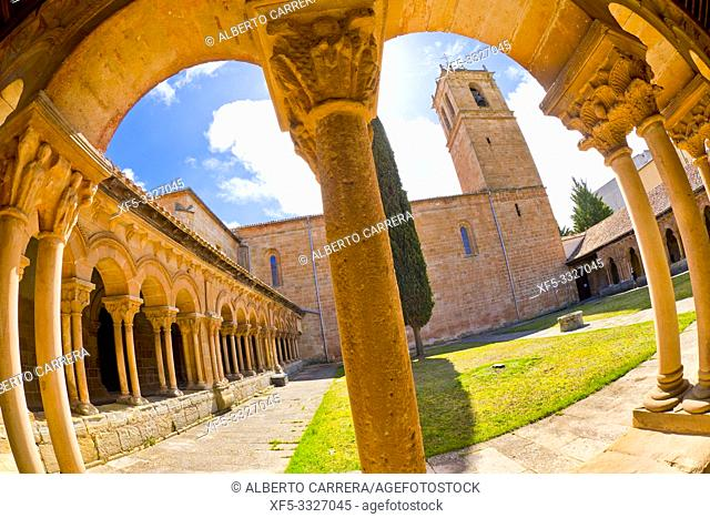 Romanesque Cloister, Co-Cathedral of San Pedro, 12-17th Century Romanesque Style, Spanish Property of Cultural Interest, Soria, Castilla y León, Spain, Europe