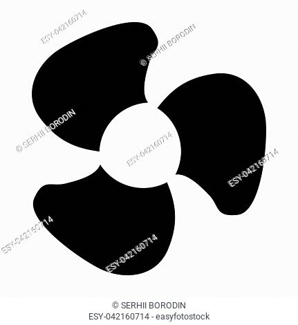 Fan blades it is black color icon