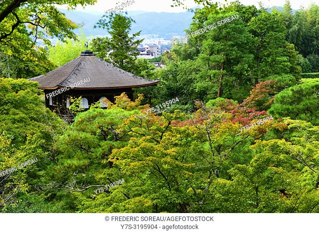 Ginkaku-ji temple and its gardens, Kyoto, Japan, Asia