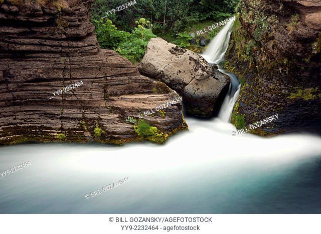 Gjain Waterfalls - Gjain Canyon, Southern Highlands - Iceland