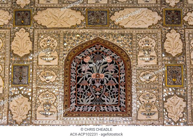 Amer palace , located in Amer, near Jaipur, Rajastan, India