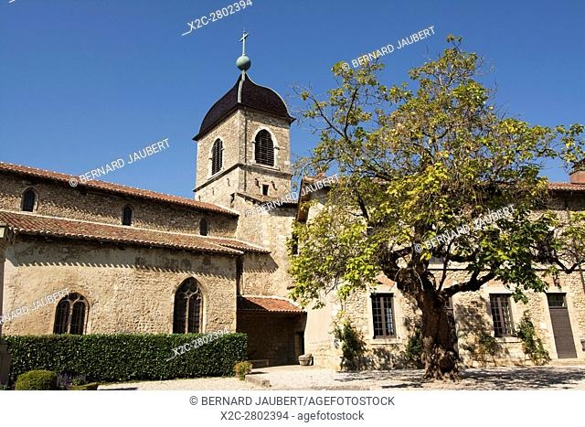 Church of Perouges, Ain department near Lyon, Auvergne Rhones Alpes, France, Europe