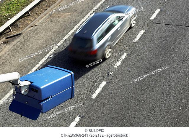 Traffic surveillance camera on A2, Kent, UK