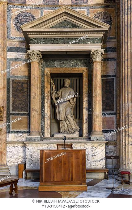 St. Rasius Statue, Pantheon, Rome, Italy