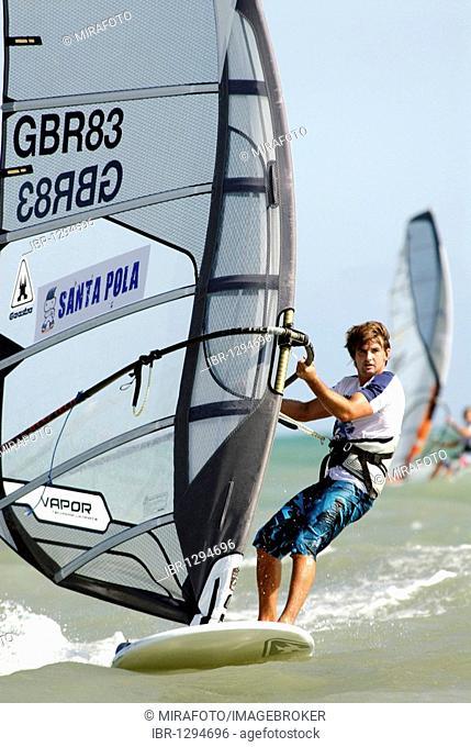 Ross Williams, United Kingdom, Formula Windsurfing World Championship in Santa Pola, Spain, Europe