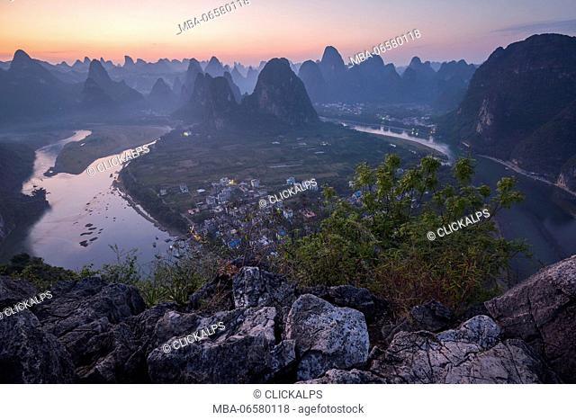 Asia, China, Guilin, Xingping