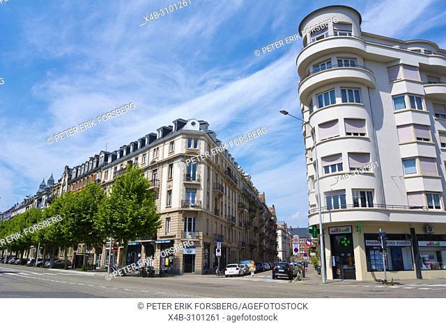 Avenue des Vosges, Contades district, Strasbourg, Alsace, France