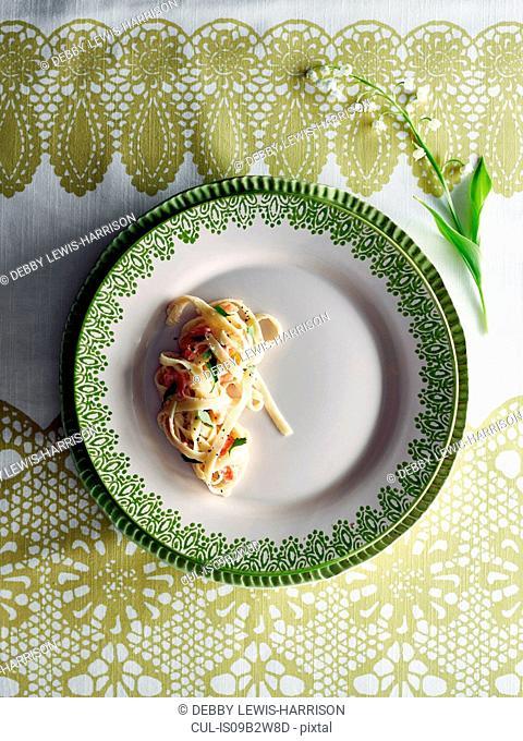 Half portion of pasta