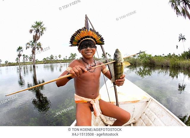 Xingu indians in the Amazone, Brazil